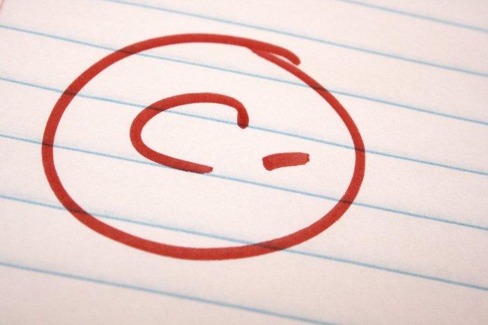 C-minus grade
